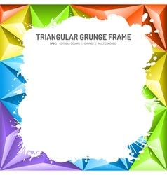 Abstract mosaic frame vector