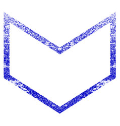 Arrowhead down grunge textured icon vector