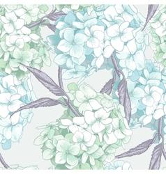 Beautiful Blue Hydrangea Seamless Background vector image