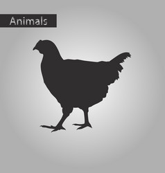 black and white style icon of hen vector image vector image
