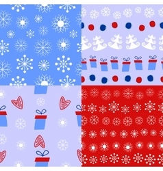 Christmas and winter background vector image