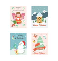 Christmas Cards 10 vector image