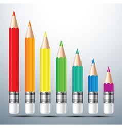 color pencil set 2 vector image vector image