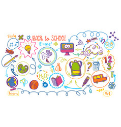 colored school education sheme vector image