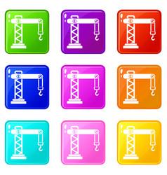 Crane set 9 vector