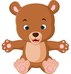 Cute baby bears cartoon vector