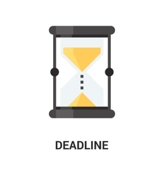 deadline icon concept vector image