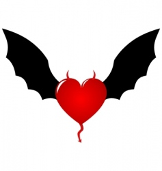 demon heart vector image vector image