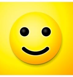 Emoji smile symbol vector image vector image