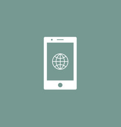 globe icon simple vector image vector image