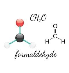 H2CO formaldehyde molecule vector image