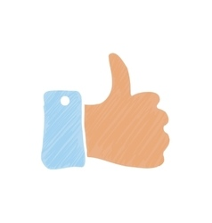 Hand thumb up vector image