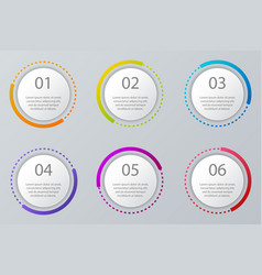 infographic elements set workflow layout vector image vector image