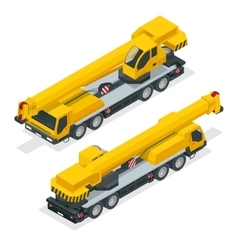 Isometric crane heavy equipment and machinery vector image