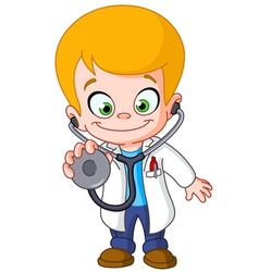 Kid doctor vector