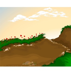 Landscape cartoon background vector image