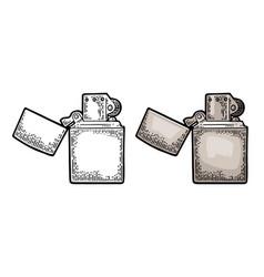 lighter open vintage engraved black vector image vector image