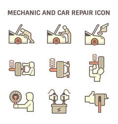 Mechanic car icon vector
