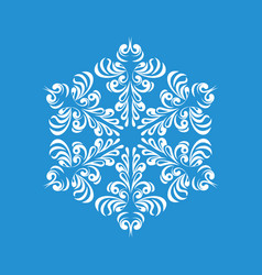 Melting snowflake icon simple style vector