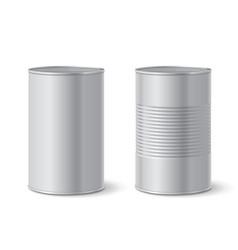metallic tin can vector image