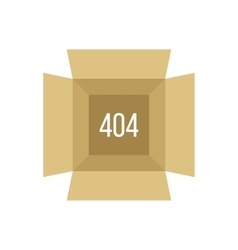 opened box with 404 error vector image