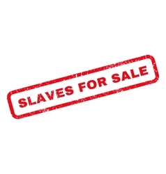 Slaves for sale rubber stamp vector