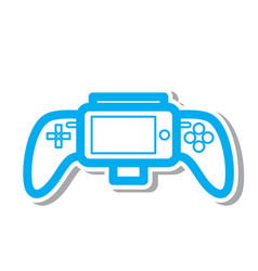 Thin line gamepad icon vector