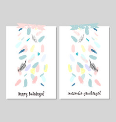 Trendy creative cards vector