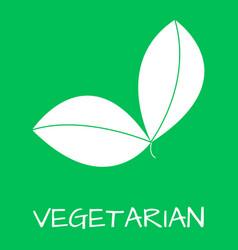 Vegetatian label food intolerance symbols vector