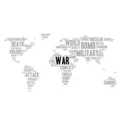 War word cloud vector image vector image