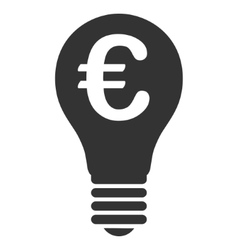 Euro patent flat icon vector