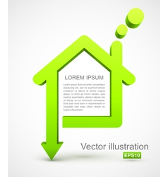 Green house icon vector