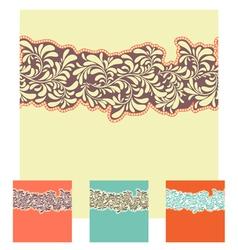 Seamless decorative element border set vector