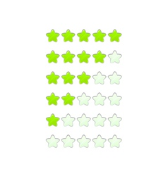 Loading bar from stars like a flower vector