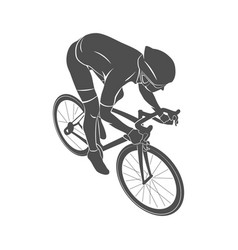 athlete bike cyclist vector image