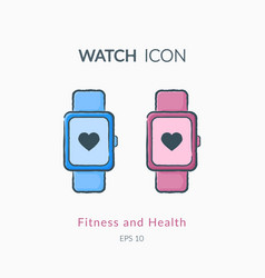 Sport watch icon isolated on white vector