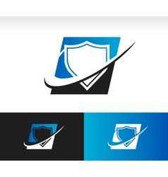 Swoosh Shield Logo Icon vector image