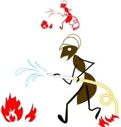 ant fireman vector image