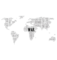 War word cloud vector
