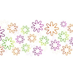 Colorful flowers abstract vector image