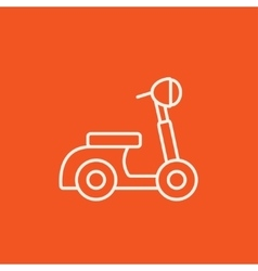 Scooter line icon vector