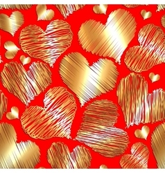 Abstract love heart seamless background for vector