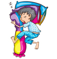 A young boy sleeping soundly vector image