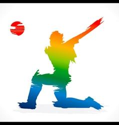 batsmen hit the ball design vector image