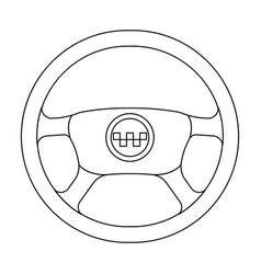 black wheel with yellow emblem of taxi the vector image