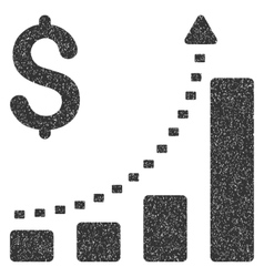 Business Bar Chart Positive Trend Grainy Texture vector image