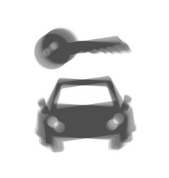 Car key simplistic sign gray icon shaked vector