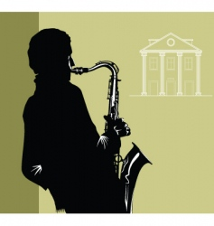 city jazz vector image