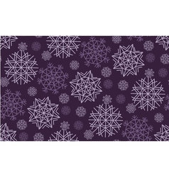 Classic christmas snowflakes seamless pattern vector