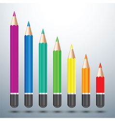 color pencil set vector image vector image